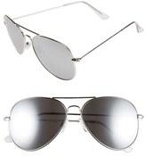 BP Mirrored Aviator 57mm Sunglasses