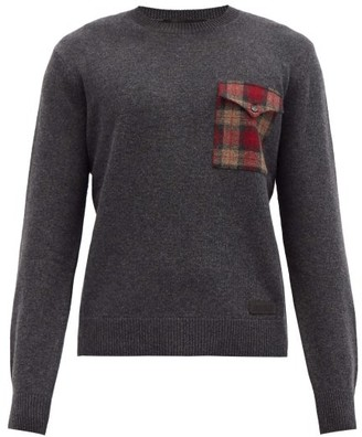 DSQUARED2 Checked-pocket Wool Sweater - Grey