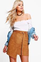 Boohoo Athena Cord Asymetric Mini Skirt