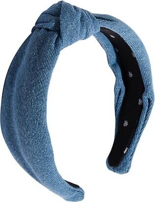 Lele Sadoughi Denim Knotted Headband