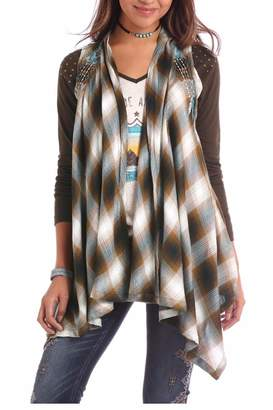 Panhandle Slim Aztec Embroidered Vest
