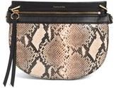 Louise et Cie 'Medium Elay' Leather Crossbody Bag - Black