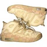 Nike More Uptempo Camel Suede Trainers