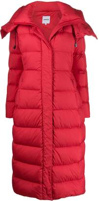 Aspesi long hooded down coat