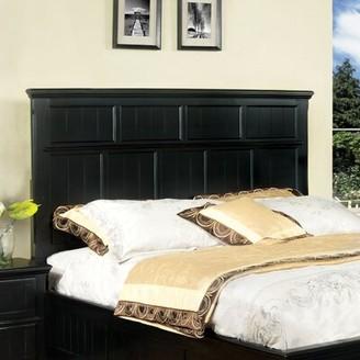 Hokku Designs Panel Headboard Size: Full/Queen, Upholstery: Black