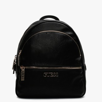 GUESS Manhattan Black Pebbled Backpack