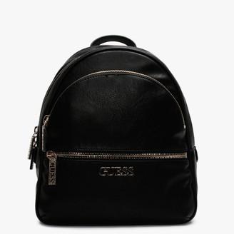 GUESS Manhattan Black Pebbled Backpack