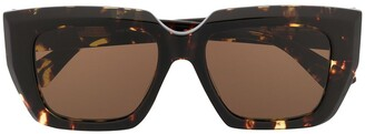 Bottega Veneta Oversized Square Frame Sunglasses