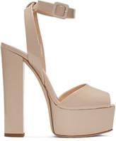 Giuseppe Zanotti Beige Patent Lavinia Platform Sandals