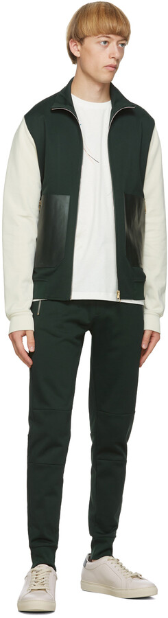 Thumbnail for your product : Paul Smith Green & Off-White Contrast Track Jacket