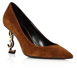 Saint Laurent Women's Embellished Mid-Heel Pumps