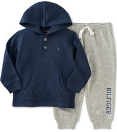 Tommy Hilfiger 2-Pc. Thermal Hoodie & Pants Set, Baby Boys (0-24 months)