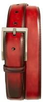 Magnanni Men's Burnished Leather Belt