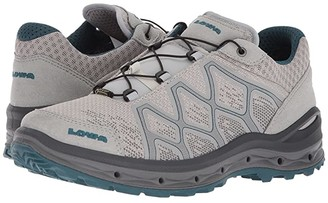 Lowa Aerox GTX Lo Surround (Light Gray/Petrol) Women's Shoes