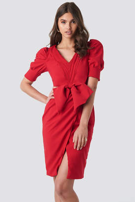 Trendyol Bow Detailed Dress Red