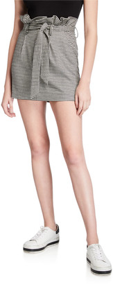 Alice + Olivia Zoya Belted Paperbag Mini Skirt
