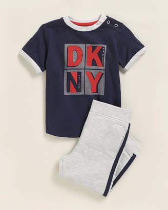 DKNY Infant Boys) Two-Piece Bronx Zoo Short Sleeve Tee & Joggers Set