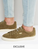Puma Suede Classic Sneakers In Khaki Exclusive To ASOS
