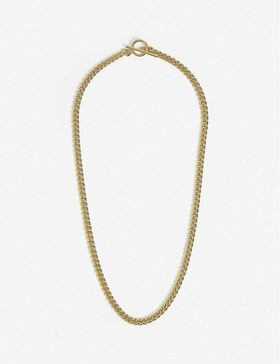 Tilly Sveaas Ltd Curb gold-plated sterling silver necklace