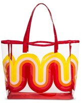 Mossimo POPTIMISM! Women's Wave Print Jelly Tote Handbag - Red