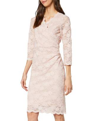Gina Bacconi Women's Stretch Sequin Scallop Lace Dress