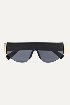 Le Specs Viper D-frame Acetate And Gold-tone Sunglasses - Black