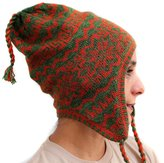 CELITAS DESIGN CHULLO CAP HAT LINED Baby Alpaca made in PERU GREEN