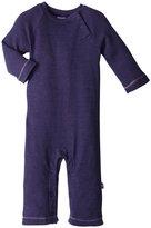 City Threads Thermal Raglan Romper (Baby) - Purple-0-3 Months