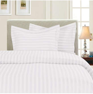 Elegant Comfort 1500 Thread Count Egyptian Quality Luxurious Silky - Soft Wrinkle Free 2-Piece Stripe Duvet Cover Set, Twin/Twin Xl Bedding