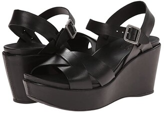Kork-Ease Ava 2.0 (Black) Women's Wedge Shoes