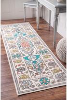 nuLoom Modern Persian Printed Floral Multi Runner Rug (2'6 x 8')