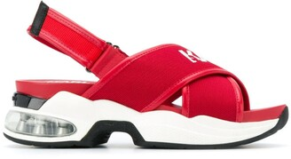 Karl Lagerfeld Paris cross strap sporty sandals