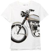 Dex Short Sleeve Graphic Slub Knit Tee (Big Boys)