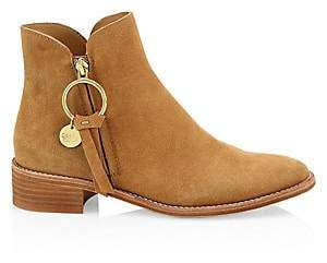 See by Chloe Women's Louise Flat Suede Ankle Boots