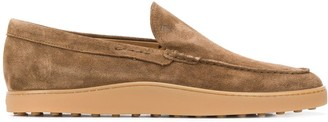 Tod's suede rubber-soled loafers