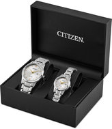 Citizen Men's & Women's Pairs Stainless Steel Bracelet Watch Box Set 40mm 30mm PAIRS-COM, A Macy's Exclusive Style