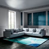 west elm Halsey L-Shaped Sectional - Ice (Yarn Dyed Linen Weave)