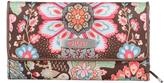 Oilily Brown Large Tri-Fold Wallet
