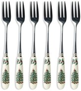 Spode Christmas Tree Pastry Forks, Set of 6