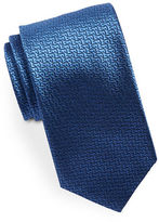 HUGO Geometric Textured Silk Tie