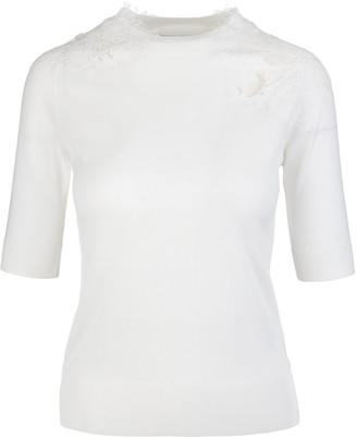Ermanno Scervino Tight-fitting Sweater With Round Neck