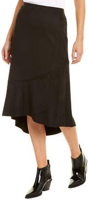 Kensie Flutter Hem Midi Skirt
