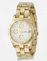 MARC BY MARC JACOBS Henry Chronograph Gold-Plated Link Bracelet Watch