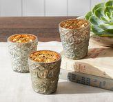 Pottery Barn Eclectic Votive, Set of 3 - Mercury Glass