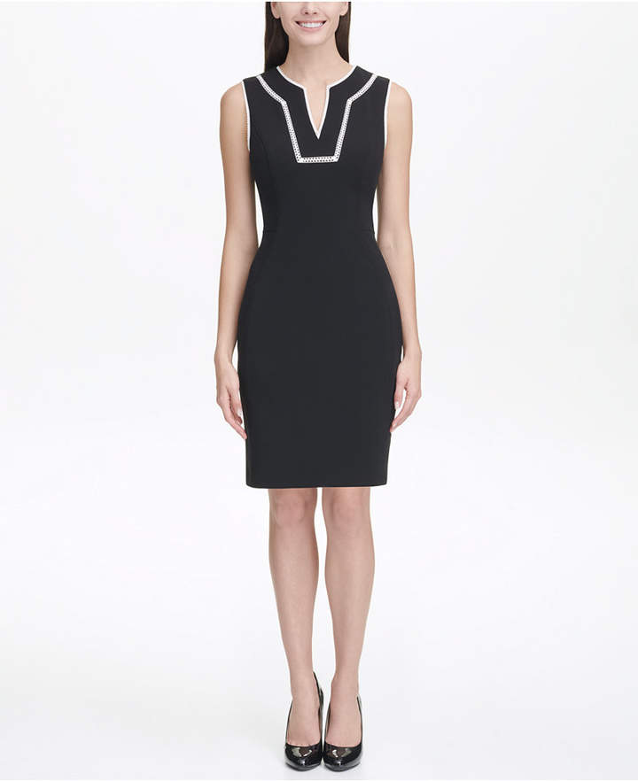 2e54b17e54e Tommy Hilfiger Black Scuba Dresses - ShopStyle