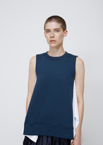 Marni dark limoges / lily white sleeveless sweatshirt