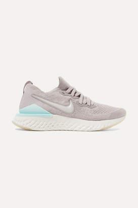 Nike Epic React 2 Flyknit Sneakers - Gray