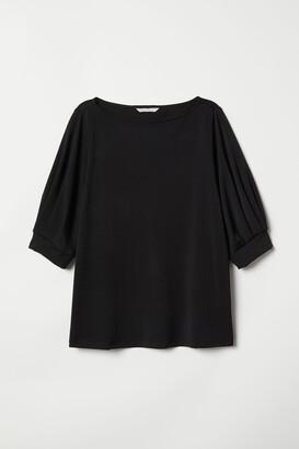 H&M Jersey crepe top