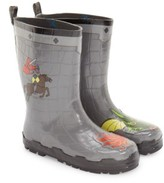 Kidorable Toddler Boy's 'Dragon Knight' Waterproof Rain Boot