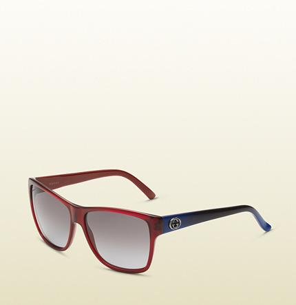 Gucci Red Trendy Rectangular Sunglasses